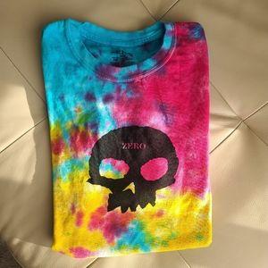 Zero skateboard tie dye t-shirt size large